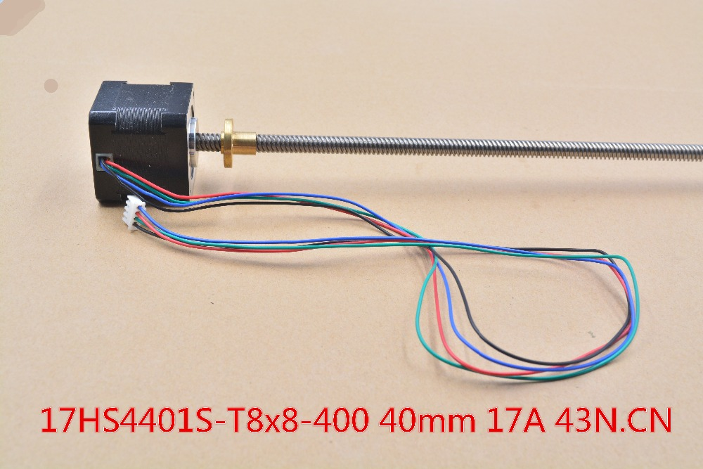 3d print motor nema17 stepper motor with T8 screw lead 8mm 400mm 42 motor 42BYGH mill
