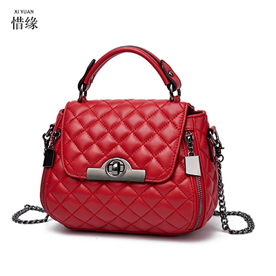 XIYUAN BRAND girl 2017 Shoulder Bags big Crossbody Bag For Women lady Handbags Leather cotton ladies Messenger Bag red/grey