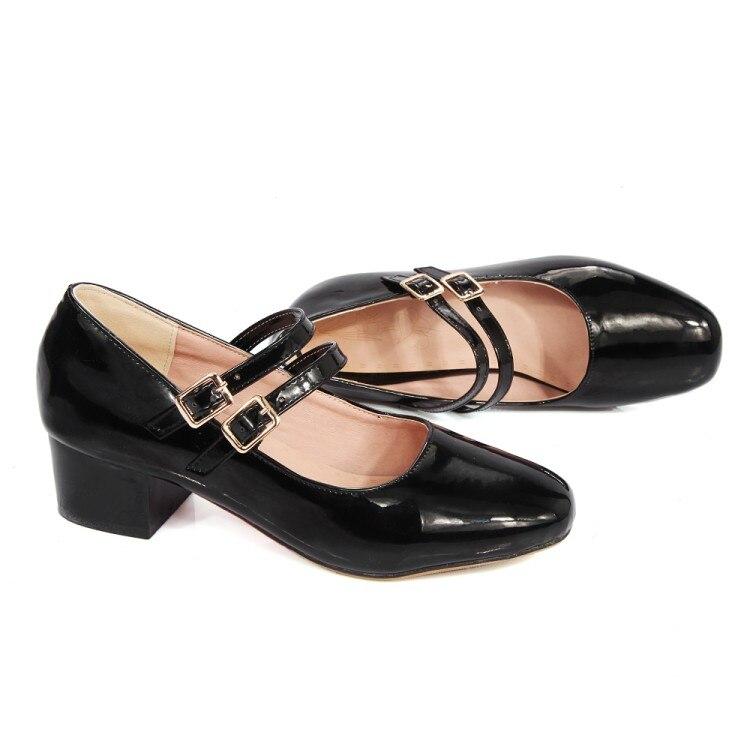 Sapato Feminino Real Zapatos Mujer Tacon Size Big 34-48 New 2017 Platform High Heels Women Pumps Spring Autumn Shoes Woman 6-3
