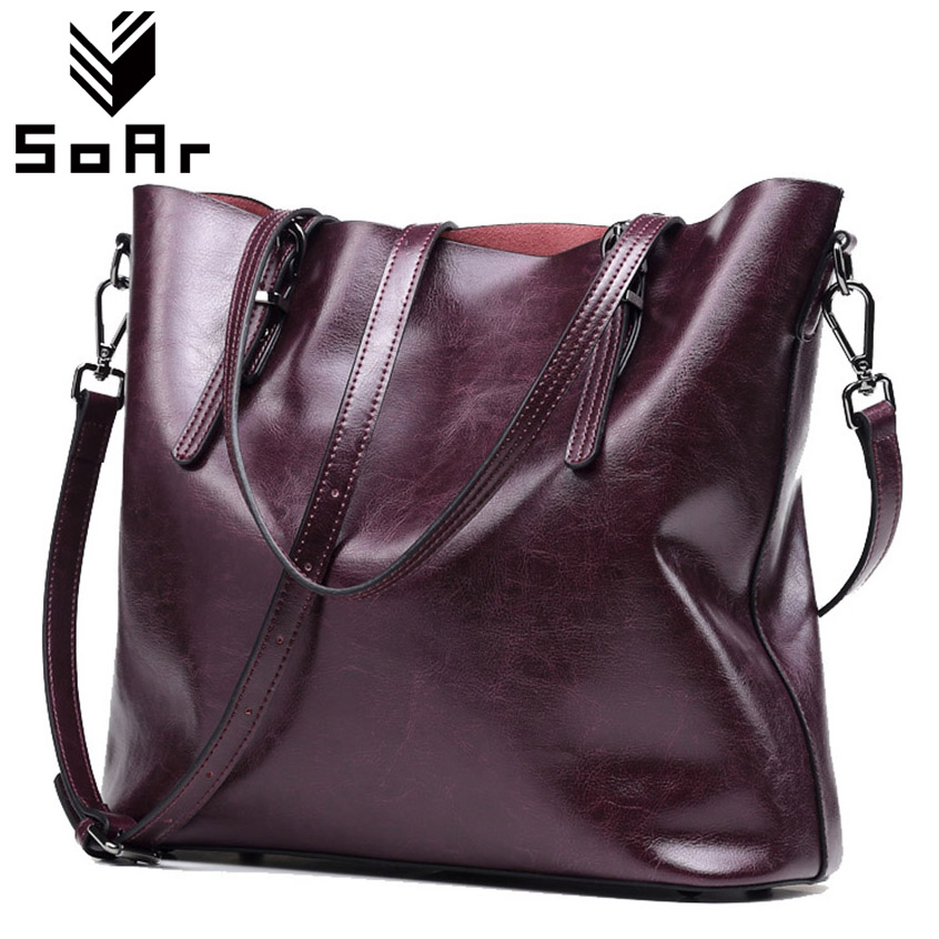 SoAr Genuine Leather Bags Women Handbags Real Leather Big Women Bag Luxury Brand Fashion Messenger Shoulder Bags Large Capacity fashion leather women shoulder big bag genuine leather cowskin paste brand luxury leather message women bag 7 colors p1006a