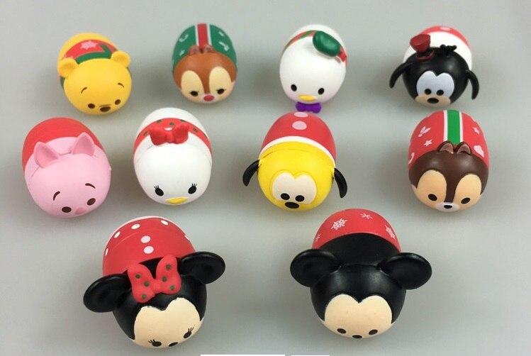 Minnie Mickey Christmas-Toys Doll Gift Chirldren Qversion for Brinquedos 10pcs/Lot Juguetes