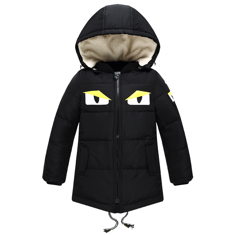 Children's Outerwear Boy and Girl Winter Warm Thick Duck Hooded Coat Children Cotton-Padded Clothes boy Down Jacket kid jackets russia winter boys girls down jacket boy girl warm thick duck down