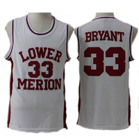 Kobe Bryant Jersey 33 High School Lower Merion Basketball Jersey Throwback Sport Shirt All Stitched