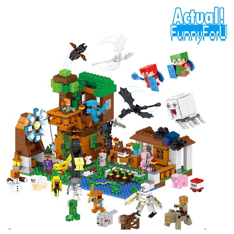 NEW 1007pcs LELE Minecraft My World Building Blocks Bricks Toys Educational Zombie Action Figures For ChildrenINGly