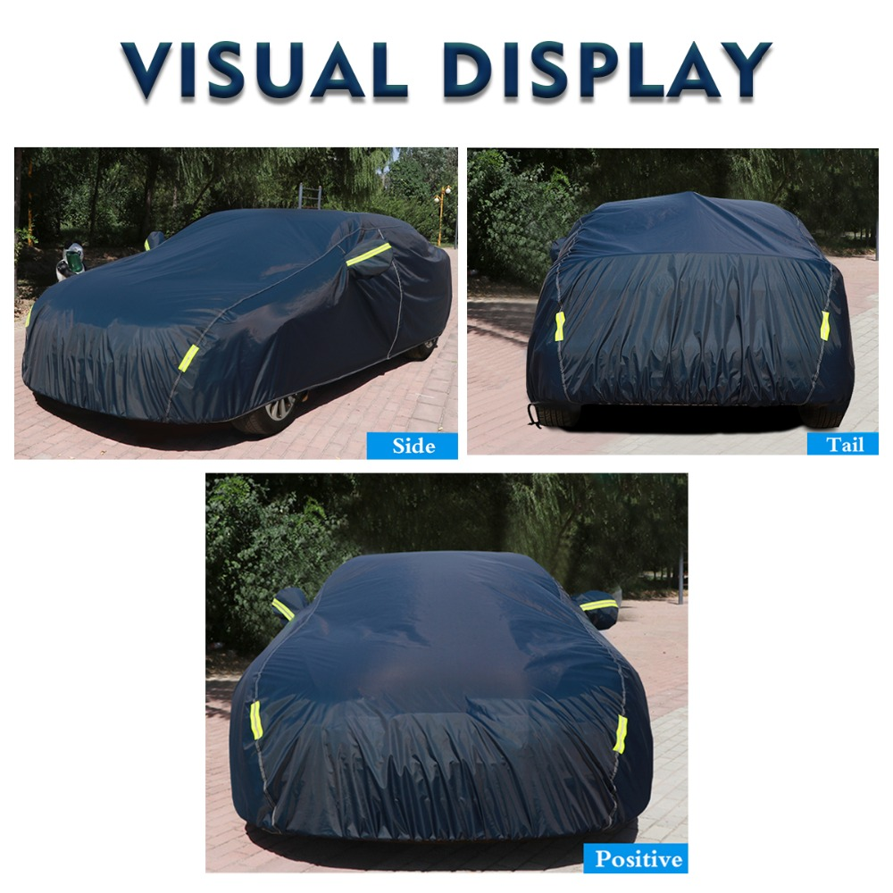 9 Size waterproof car covers outdoor sun protection cover for car reflector dust rain snow protective suv sedan hatchback full