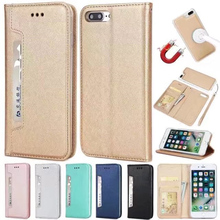 For iPhone 8 7 Plus Case Luxury Slim Ultrathin Magnet Case for iphone 6s Plus 6 5 5s SE 7 Holster Flip Cases Leather Cover