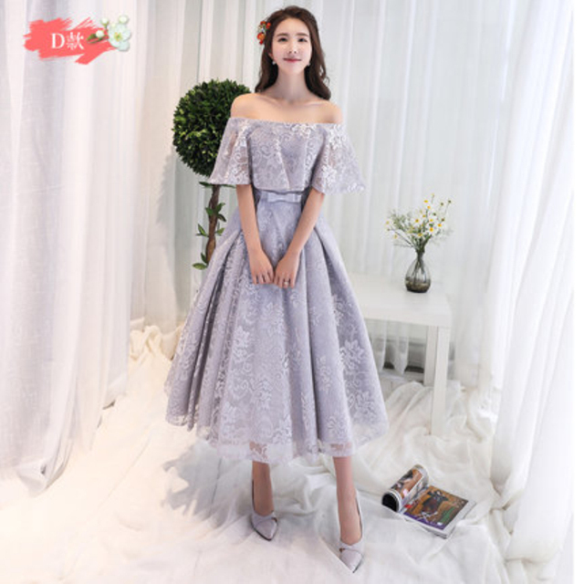 276932f3c7f High Quality Luxury Appliques Lace Elegant Ankle-Length Lilac Champagne Prom  Girl Dresses 2017 New