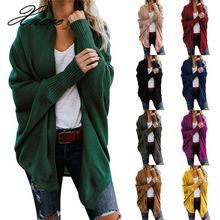 Xnxee Autumn Winter Batwing Sleeve Knitwear Cardigan Women Large Size Knitted Sweater Female Elegant Jumper Coat