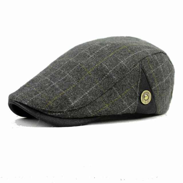 DT591 Fashion Wool Felt GATSBY Newsboy Cap Men Wool Ivy Hat Driving Flat  Cabbie flat hat af31c4e7669