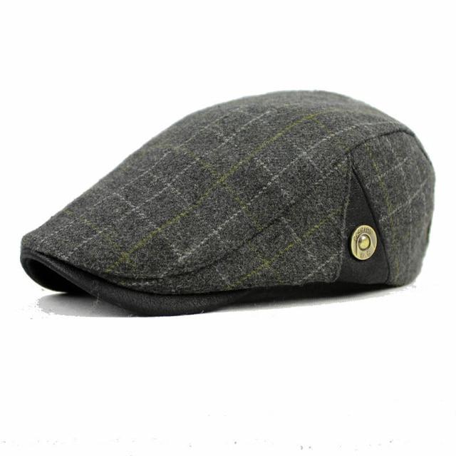 DT591 de fieltro de lana GATSBY vendedor de los hombres Ivy sombrero  conducción plana taxista sombrero 4d941e32097