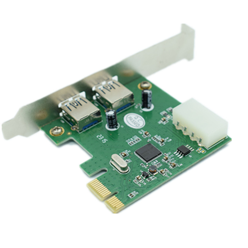 2-Port USB 3.0 Low Profile PCI-Express Host Controller Card Adapter Gifts Drop Shipping C0621