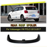 Fibra de carbono/FRP Car Janela Indiscreta Roof Spoiler Asa Lábio para VW Polo 6R 2013-2017 Car Styling