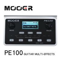 MOOER PE100 Portable Multi effects Processor Guitar Effect Pedal 39 Effects 40 Drum Patterns 10 Metronomes Tap Tempo