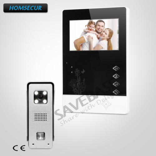 все цены на HOMSECUR Transportation from RU 4.3inch Video Door Phone Intercom System with Outdoor Monitoring for House/ Flat онлайн
