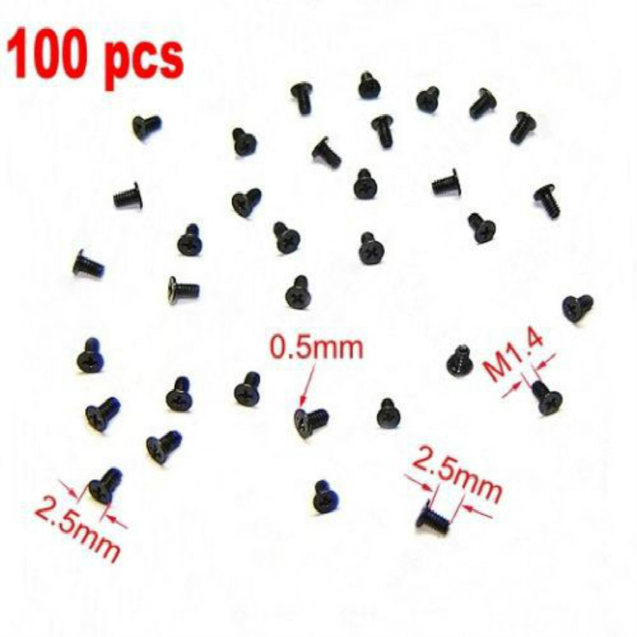100 Cell Phone Screw M1.4x2.5 Micro Screws Repair Mini