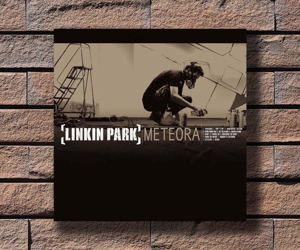 G-818 Linkin Park Meteora Music Rapper Album Cover Fabric Home Decoration Art Poster Wall Canvas 12x12 20x20 24x24inch Print