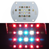 Customized 60W Cree XP E 20 LED Plant Grow Multi Chip LED Lamp Light XPE 660nm + XPE2 Red Blue White Mixed On Copper PCB Board