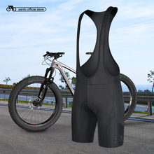 Santic Men Cycling Padded Bib Shorts Pro Fit Summer Black Cycling MTB Road Bike Bicycle Padded Bib Shorts Asian Size K7MC033