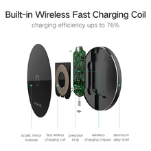 Ugreen Qi Wireless Charger for Samsung Galaxy S6 S7 S8 S9 for iphone 8 X