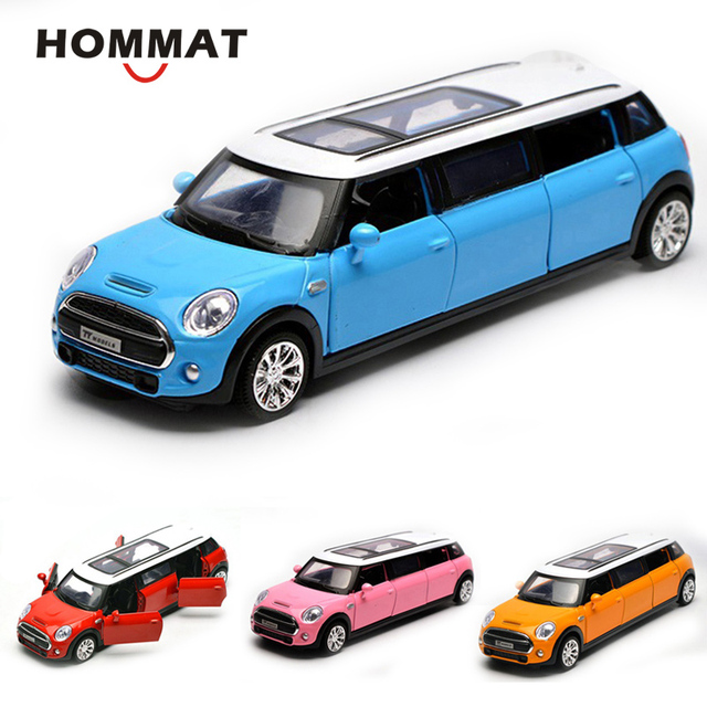 Hommat Simulation 1 36 Mini Cooper Extended Limousine Car Alloy Cast Toy Vehicle Model Metal Collection Gift