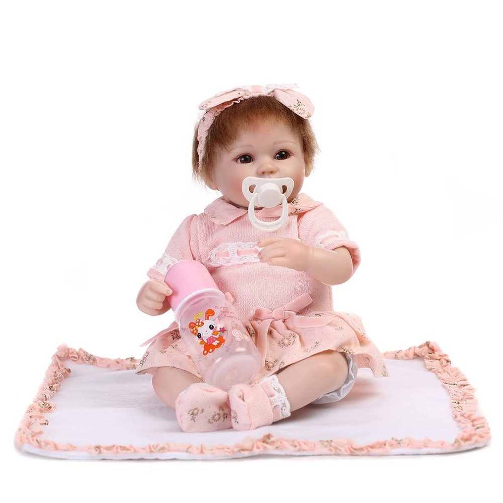 цена на NPK New 43CM Soft Silicone Bebes Reborn Dolls Lifelike Reborn Baby Doll Toys Adorable Boneca Baby Reborn Toy Kids Birthday Gift