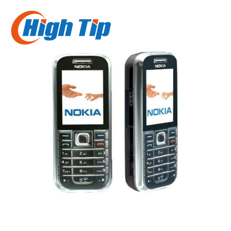 6233 Original Nokia Unlocked 6233 cell phone bluetooth mp3 2MP player One Year Warranty Refurbished freeship