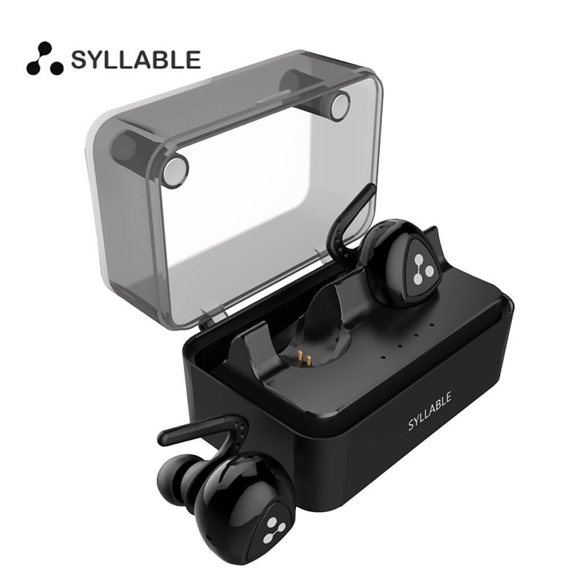 Syllable D900 Mini Wireless Bluetooth 4.1 Double-ear Sport Earphones with Charging Box Stereo Music Headset For Iphone Xiaomi