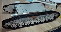 Big Size Doit T800 Alloy DIY Tank Chassis Silver With 4 Motors Robot Chassis