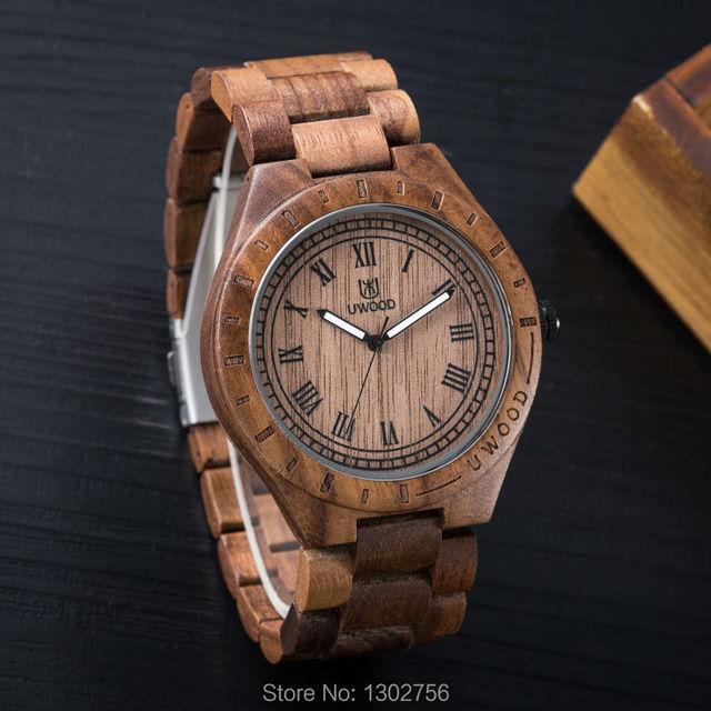 Sandalias rojas de madera ecológicas  , relojes de salud y  reloj de madera de la marca Bewell,  reloj del cuarzo de Japón para las mujeres y hombres con caja de regalo
