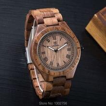 Eco-Friendly Red Sandal Wood Health Watches Uwood Brand Wooden Watch Japan Quartz Wristwatch For Mens Women Lover Best Gift