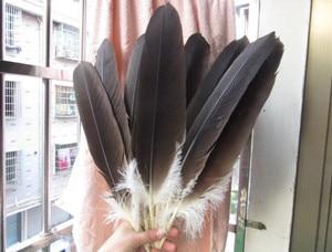 Image 2 - Plumas de águila naturales raras, 40 45 cm/16 18 pulgadas, decoración de celebración, accesorios de joyería, puesta en escena diy, 10 unidades al por mayor
