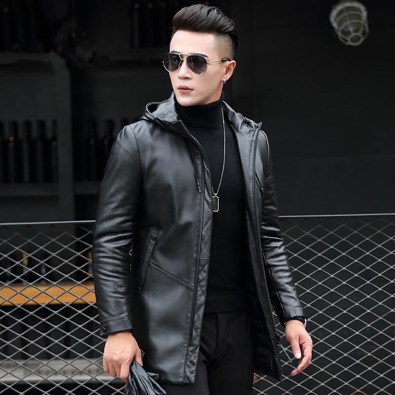 Black Hommes 2018 Ayunsue Canard Zl893 Veste En Vêtements Véritable Hombre De Chaqueta Peau Mouton Manteau D'hiver Cuero Duvet Réel Cuir 0wOknP8