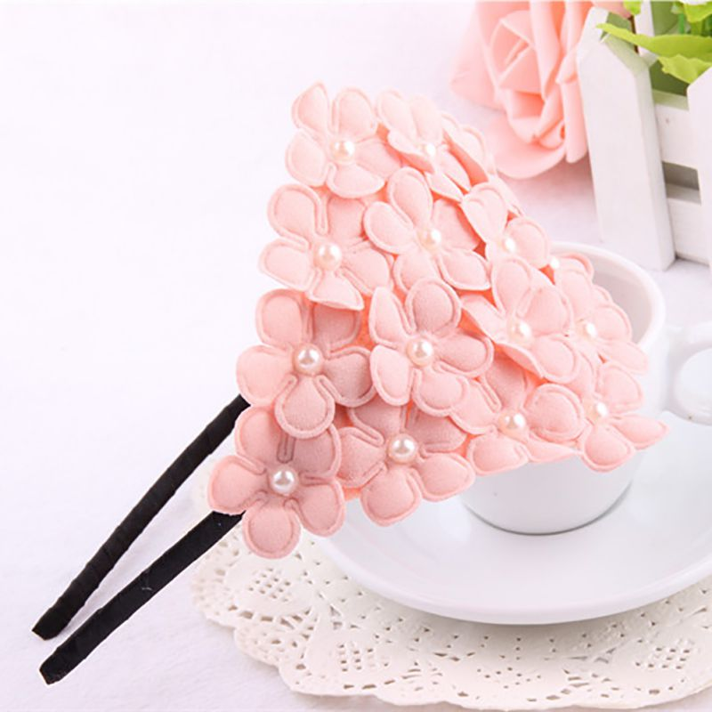New Children Headbands Baby Cute Princess Style Flower Hairband Pearl Girl Headband Hair Band Accessories