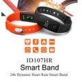 Relógio Monitor de Freqüência Cardíaca inteligente Pulseira ID 107 ID107 Remoto Bluetooth Inteligente Pulseira Pedômetro Aptidão Banda Inteligente Lembrete