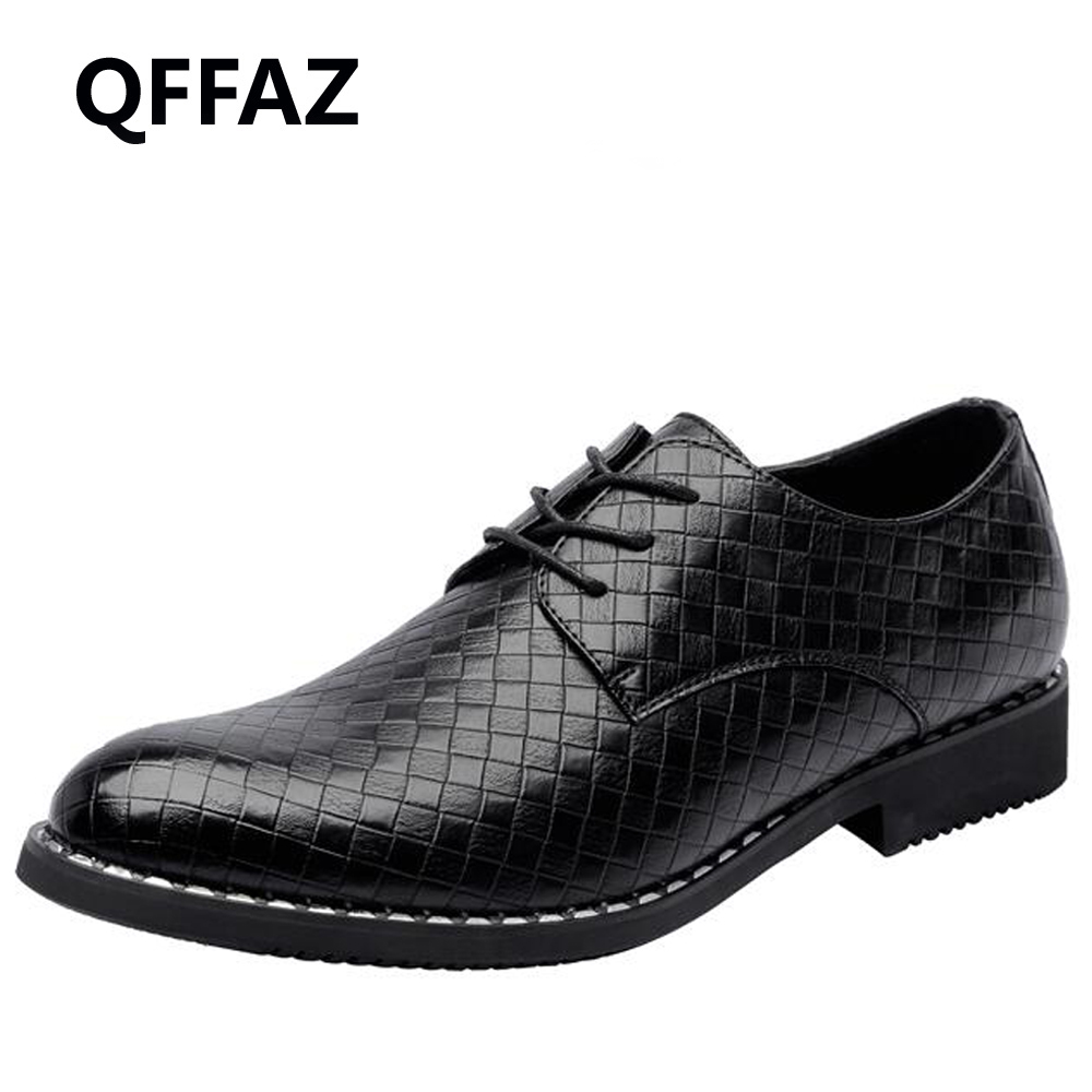 QFFAZ New Men Business Shoes Luxury Brand Braid Leather Casual Driving Oxfords Shoes Men Dress Moccasins Shoes for Men Flats grimentin fashion 2016 high top braid men casual shoes genuine leather designer luxury brand men shoe flats for leisure business