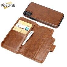 KISSCASE Ретро Бизнес кожаный чехол для iPhone XS Max X XR держатель для карт флип бумажник чехол для iPhone 8 7 Plus 6s крышка Капа