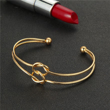 Bohemian Gold Color Double Knotted Adjustable Bracelet set 3pcs