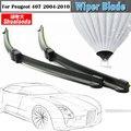 Para 2004-2010 Peugeot 407 Janela Do Veículo Frameless Wiper Blades 1 Par Carro Brisas Da Lâmina Do Limpador de Borracha Macia