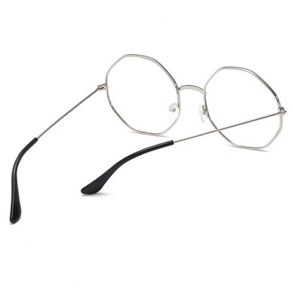 Fashion Cat Eye Metal Polygonal Glasses Frame Designer Clear Lens Women Spectacle Glasses Men Eyeglasses Frame Optical Frames Fancy Colours Women's Sunglasses
