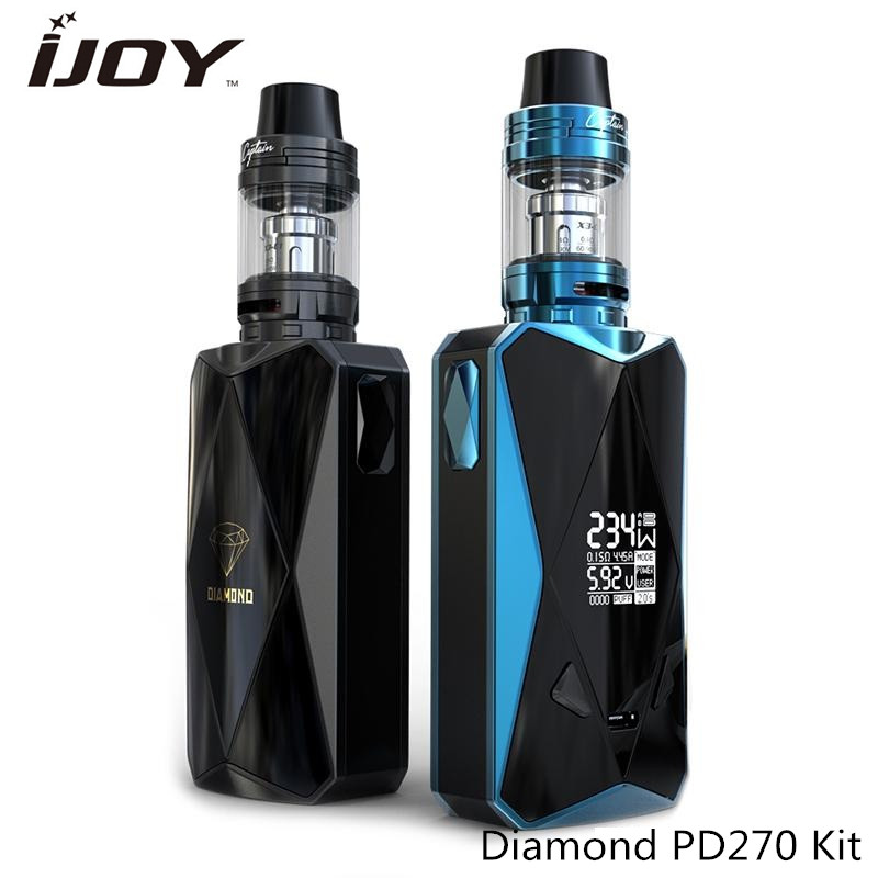 Original IJOY Diamond PD270 Kit Powered by dual 20700 Batteries with  4.2ml Captain X3S Tank 510 thread 234W Vape Box Mod original ijoy captain pd1865 tc 225w kit captain tank 4ml atomizer no 18650 battery captain pd1865 mod e cigarette vaping kit