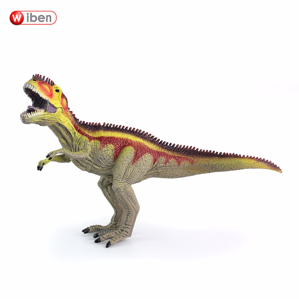 Wiben Jurassic Hollow Giganotosaurus Dinosaur Toys  Action & Toy Figures Animal Model Collection Kids Gifts wiben 3pcs jurassic triceratops tyrannosaurus rex parasaurolophus cub model dinosaur toys action toy figures collection gift