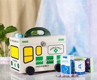 Child Kid Lovely Large Household Multi layer Multifunctional WOOD Medicine Box / First Aid Kit / Drug Storage Boxes & Bins