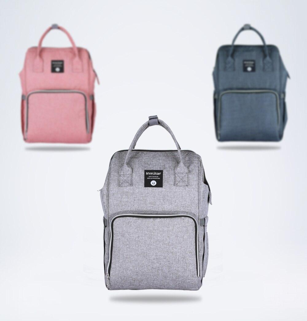 HTB1.vs4cRWD3KVjSZKPq6yp7FXa0 Insular Brand Nappy Backpack Bag Mummy Large Capacity Stroller Bag Mom Baby Multi-function Waterproof Outdoor Travel Diaper Bags