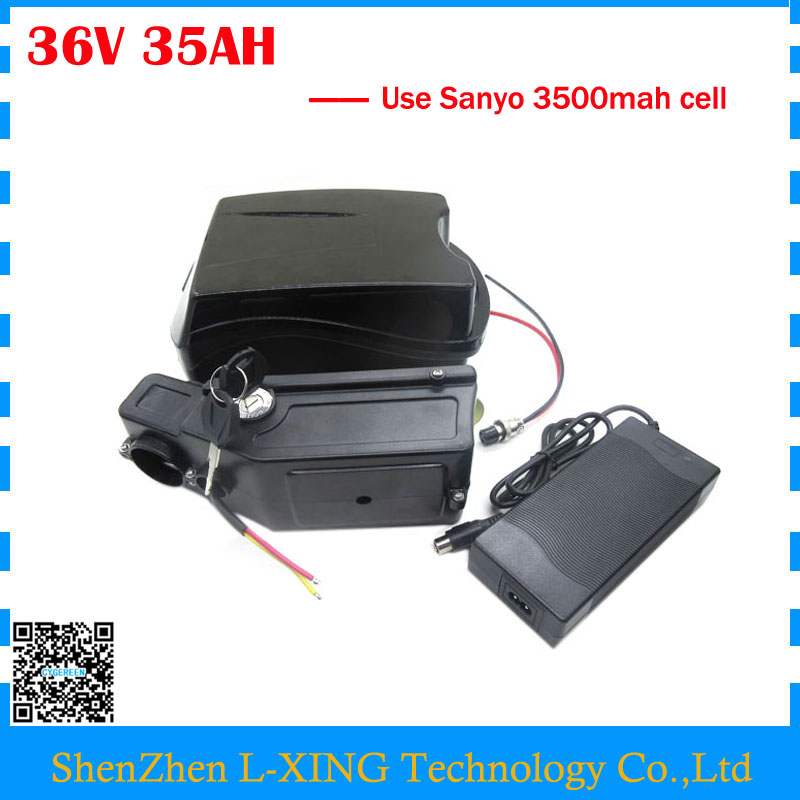 Free customs duty 36V lithium battery 36V 35AH Scooter battery use NCR18650GA 3500mah cell 30A BMS with 42V 2A Charger us eu free customs duty lithium 48v 1000w e bike battery 48v 17ah for original panasonic 18650 cell with 5a charger 30a bms