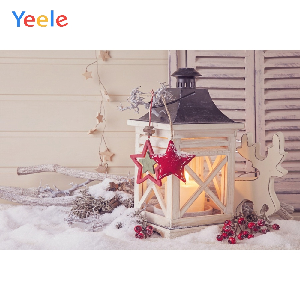 Yeele Christmas Photocall Decor Lantern Elks Branch Photography Backdrops Personalized Photographic Backgrounds For Photo Studio in Background from Consumer Electronics