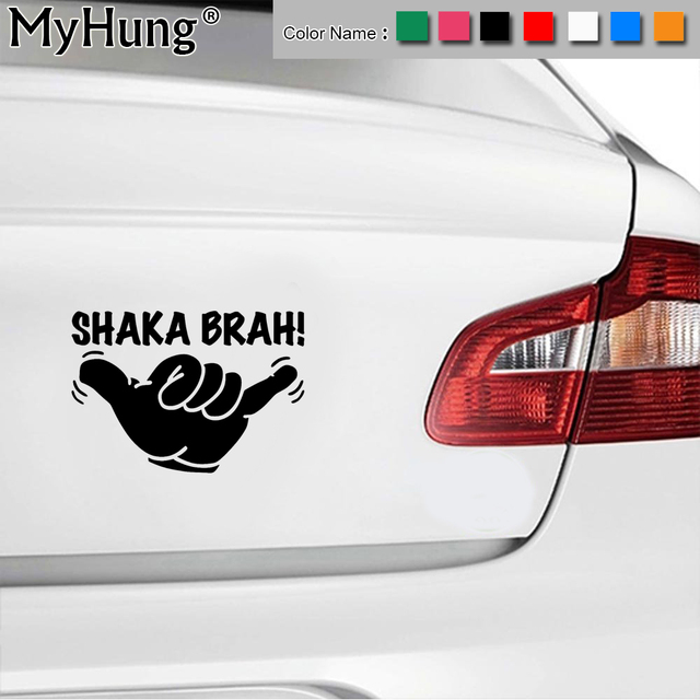 149 9cm new vinyl car body stickers shaka brah hawaii aloha surf car window