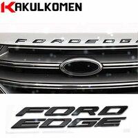 DIY Car Styling Metal Letters Hood Emblem Solid Silver Black 3D Logo Badge Sticker For Ford