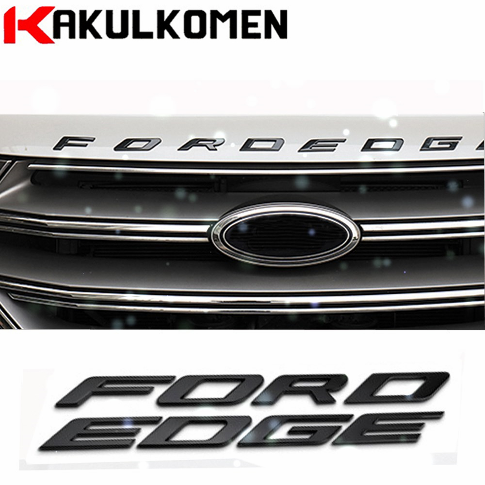 DIY Car styling Metal Letters Hood Emblem Solid Silver/Black 3D Logo Badge Sticker For Ford FORD EDGE 2014-2017 карандаш для губ lumene nordic chic soft touch lipliner 7 цвет 7 variant hex name b73455