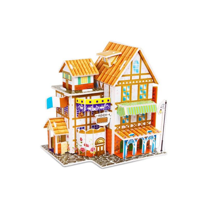 Бумага паззлами раннего обучения Строительная сборка детей украшения дома английские детские игры раннее образование игрушки - Цвет: YJL80928765F