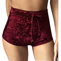 2017 spring New arrive Women's Booty Shorts Sexy Skinny velvet shorts for women fashion High Waist Drawstring trousers for women